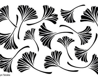 Designs by Ryn - Stencil - Ginkgo S-5