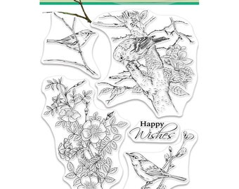 Penny Black Clear Stamp Set - Sublime, Birds, Flowers