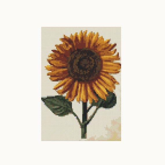 MINI Cross Stitch Kit - Sunflower - Daniel Froesch - Embroidery Kit - Needlework DIY Kit (TAS135)