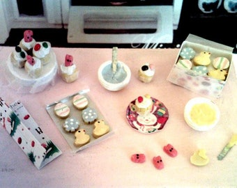Dollhouse Miniature Easter Baking Set 1