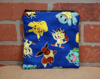 One Sandwich Bag, Reusable Lunch Bags, Waste-Free Lunch, Machine Washable, Pokemon, Sandwich Sacks, item #SS89