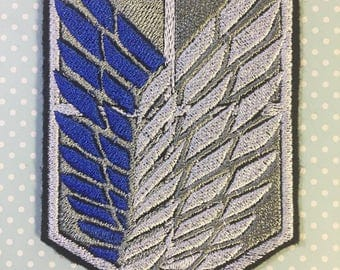 """Attack on Titan Scout Regiment Survey Corps Inspired 4"""" iron-on patch"""