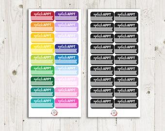 Eyelash Appointment Stickers - ECLP Sticker