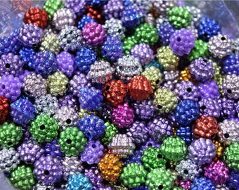 100 multicolored 10mm acrylic beads