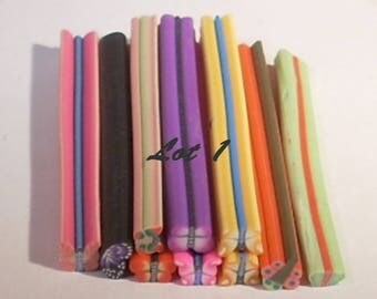 Set of 10 50mm Butterfly polymer clay canes