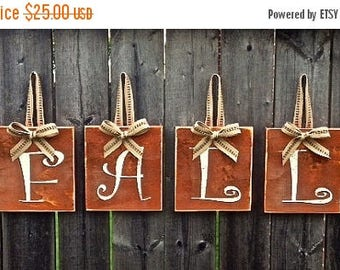 Pre-FALL Sale SAVE 15%: Fall Decor, Fall Hanging Wood Sign with Jute Ribbon, Rustic Fall Country Decor, Thanksgiving, Fall Orange, Autumn De