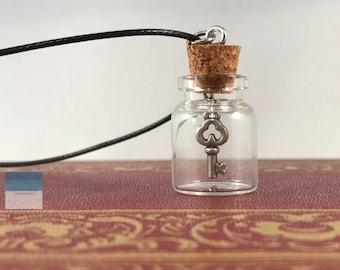 Key Necklace, Skeleton Key, Skeleton Key Necklace, Key To My Heart, Key in a Bottle, Key Jewelry