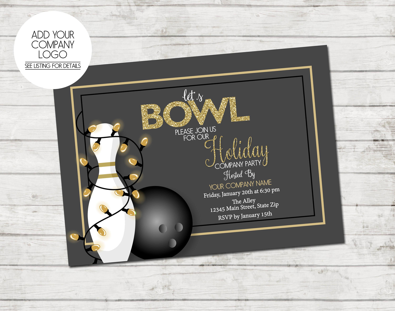 Company Holiday Party Invitation Bowling Party Holiday