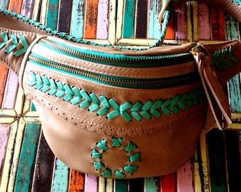Roni Festival Belt Gold,tribal fabrics,gypsy bag,boho bag, holster hipster bag