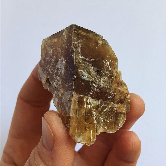 Golden Calcite raw piece