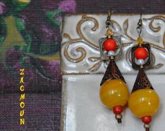 Earrings handcrafted from original pattern creator unique zagmoun