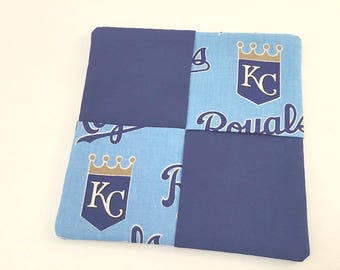Kansas City Royals, Kansas City Fabric, KC Hot Pad, Royals Fan Gift, Royals Mug Rug, Kansas City Gift, Royals Man Cave, Royals Baseball