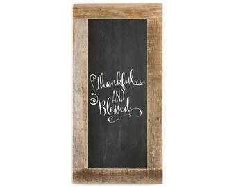 Barnwood Framed Chalkboard | 24 x 12 Inch - Natural