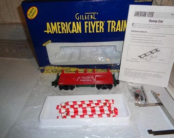 American Flyer Christmas Candy Cane dump car in box