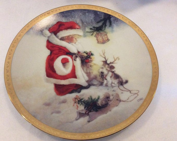 Santa's Littlest Reindeer Plate, Christmas Plate, Christmas Decor, Holiday Plate, Hamilton,Gift For Christmas, Gift For Mom, Gift For Her