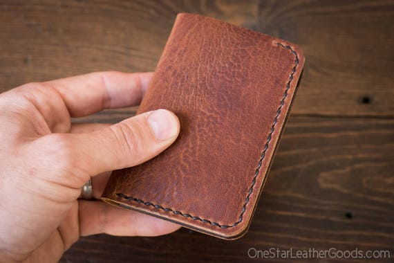 6 Pocket Vertical Wallet, Horween leather - rough tan