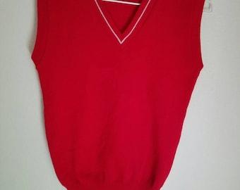 Rad Red Sweater Vest