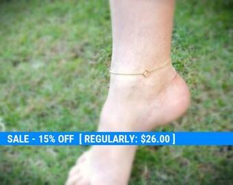 Anklet, gold bracelet anklet, simple gold anklet,gold anklet,gift for her, gold filled -109