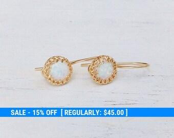 Opal earrings Dangle Opal Earrings Gold Opal Earrings Bridel earrings 21080