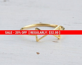 SALE 20% OFF triangle ring,geometric ring,gold triangle ring,minimalist ring,dainty ring,gold ring, triangle jewelry - 21192