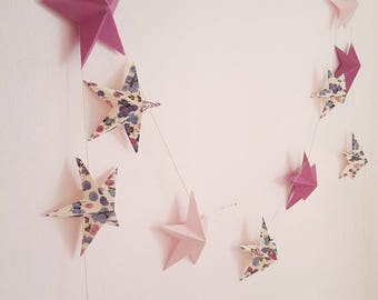 "The ""Violets"" paper Garland with 12 stars"
