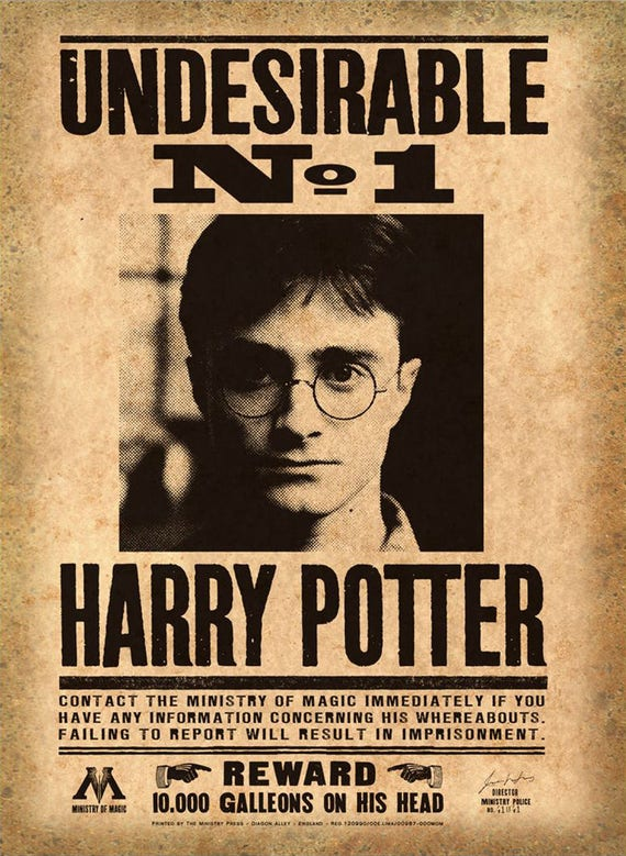 Irresistible image pertaining to harry potter printable posters