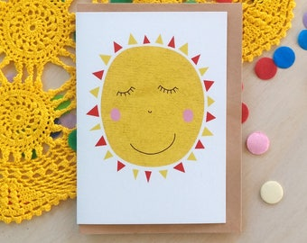 Greeting Card - Sun