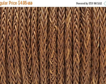 """30% OFF 4MM 8-Ply Braided Bolo Leather Vintage Whiskey - 1M/39.4"""""""