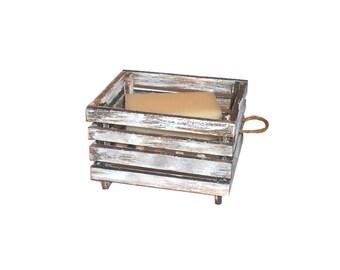 Handcrafted Cold Processed Soap | Ornamental Soap Dish Replica Old Rustic Produce Mini Crate