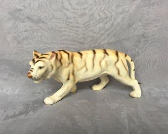 White Tiger Figurine - Tiger Decor - Vintage Tiger Figurine - Japan Ceramic Tiger Statue - Tiger Gift - Safari Decor - Tiger Lover Gift