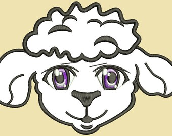 lamb (sheep) applique Machine Embroidery design