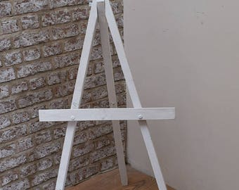 Rustic Wedding -  Painted Wooden Display Easel