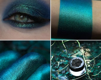 Eyeshadow: Sea Storm - Mermaid. Dark blue satin eyeshadow by SIGIL inspired.