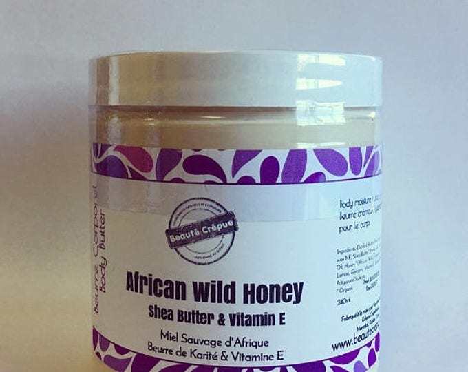 BLACK FRIDAY Deep Moisture Nourishing Body Cream with African Wild Honey, Shea Butter, Hemp Oil and Vitamin E, Skin Food - 250ml
