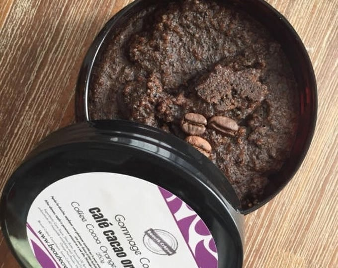 BLACK FRIDAY Cellulite Scrub, Body Scrub with Sugar, Coffee, Cocoa and Orange - Organic - 250g