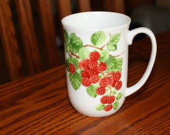"Vintage Seymour Mann Mug with Raspberries "" Framboisier"""