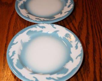 "Vintage Syracuse China Plates (2) -""Oakleigh"" Pattern Restaurant Ware"