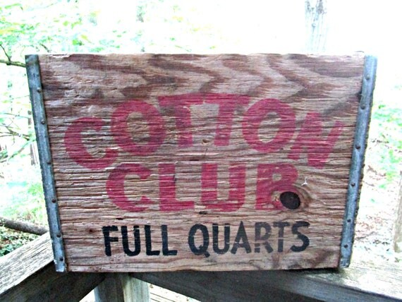 Vintage Wooden Crate, Cotton Club, Full Quarts, Urban Industrial Decor, Vintage Storage, Large Wooden Crate