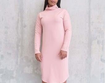 Funnel Neck Sweater Dress