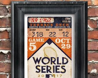 2017 World Series - Houston Astros oversize Vintage Ticket Poster