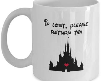 If Lost Return to Disney Castle Coffee Cup Mug Gift Sleeping Beauty