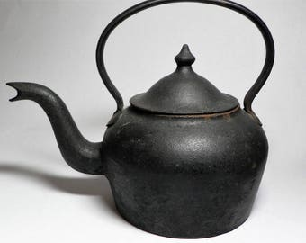Cast Iron Goose Neck Tea Kettle