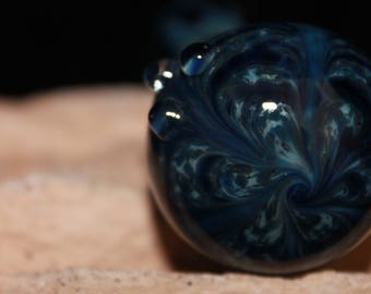 Glass Smoking Pipe, Blue Bliss