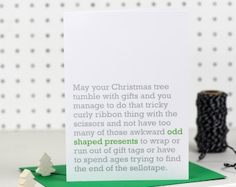 Odd Shaped Presents - Christmas Card