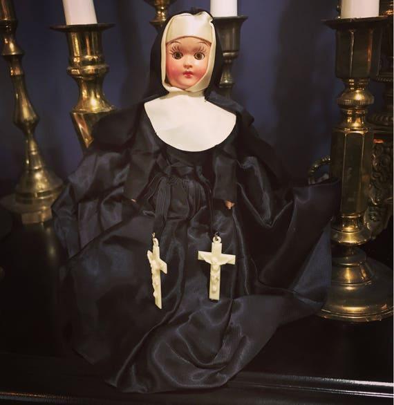 Vintage Nun Doll