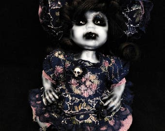 "Rena 9"" OOAK Porcelain Horror Doll"