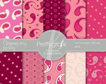80% OFF SALE paisley digital paper, commercial use, scrapbook papers, background - PS528