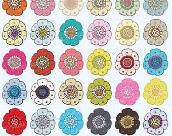 80% OFF SALE 30 flower clipart commercial use, vector graphics, digital clip art, digital images - CL503