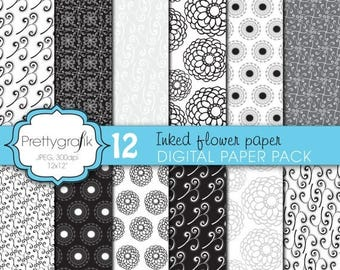 80% OFF SALE wedding floral digital paper, commercial use, scrapbook papers, background - PS625