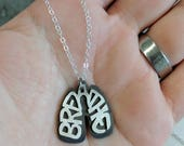 BREATHE lungs necklace